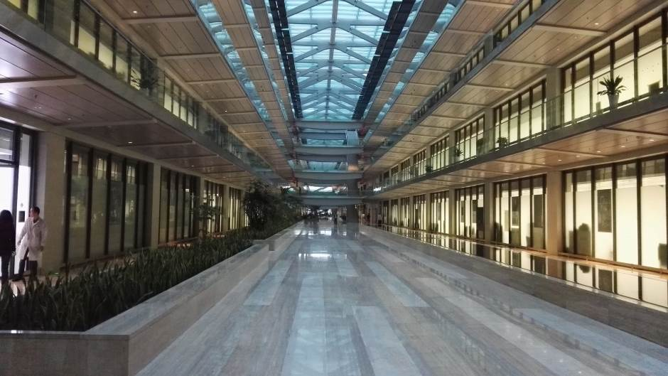 Enterijer Huawei R&D zgrade u Šangaju.