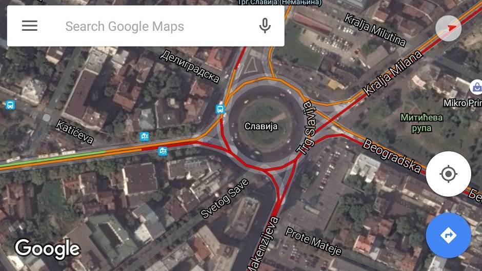 gugl mapa srbija Informacije o saobraćaju u Google ovim mapama | Mondo Portal gugl mapa srbija
