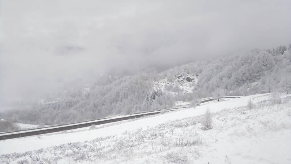 Kopaonik, planina, zima, magla, sneg
