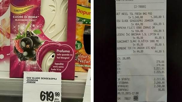 račun cene potrošači