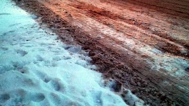 sneg put vožnja bljuzgavica