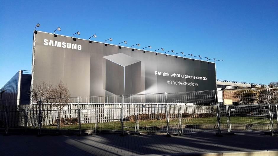 Verovatno najveća Samsung reklama ikad postavljena ispred Sajma.