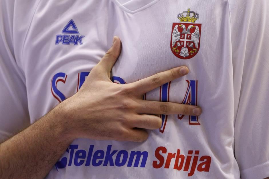 košarka orlovi grb kss tri prsta kosarka reprezentacija srbija srbije pokrivalica ilustracija