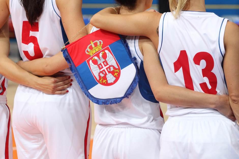 košarkašice kosarkasice zastava srbija kss ilustracija pokrivalica