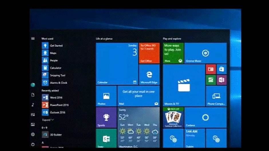 Windows 10 Start Meni, Windows 10, Start Meni