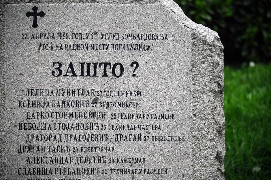 nato bombardovanje, spomenik, spomenici, rts, tašmajdan