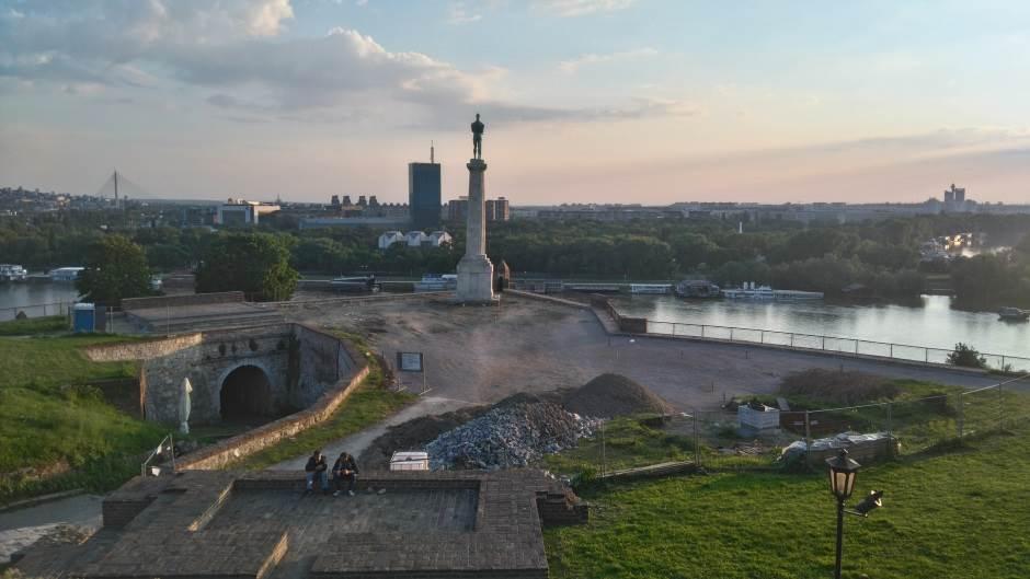 Beograd, Kalemegdan, Kalemegdanska tvrđava, Pobednik, spomenik Pobedniku