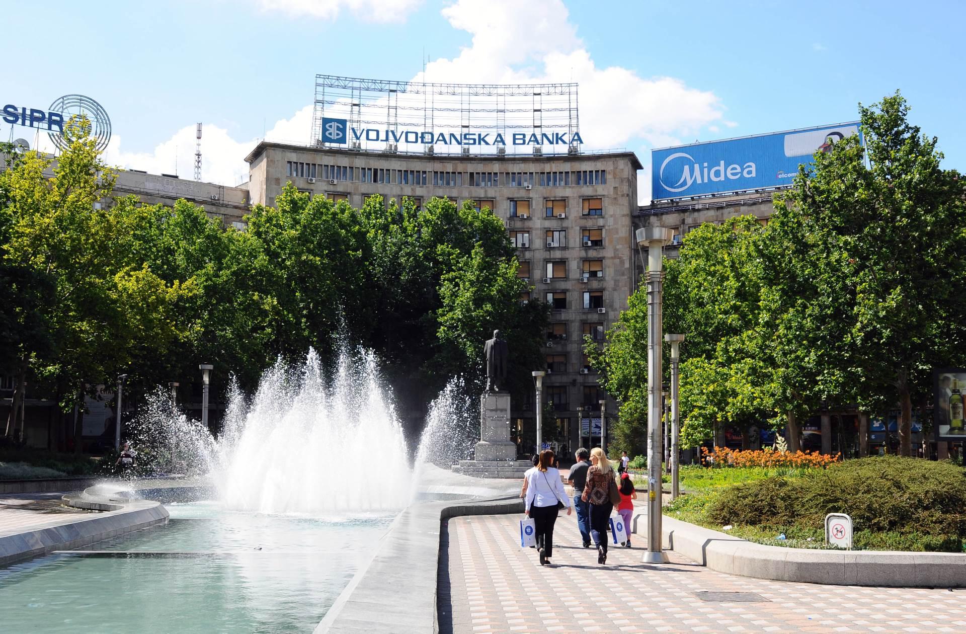 trg nikole pašića, pokvarena fontana