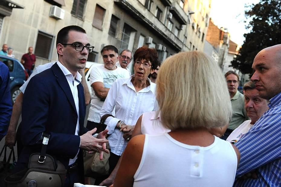 jastuci protest beograd, Marko Bastać