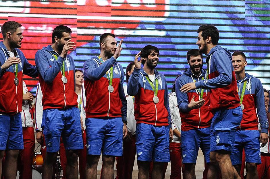 košarkaši, orlovi, teodosić, mačvan, kalinić, doček olimpijaca skupština, olimpijske igre rio 2016, sportisti, srbija, doček sportista