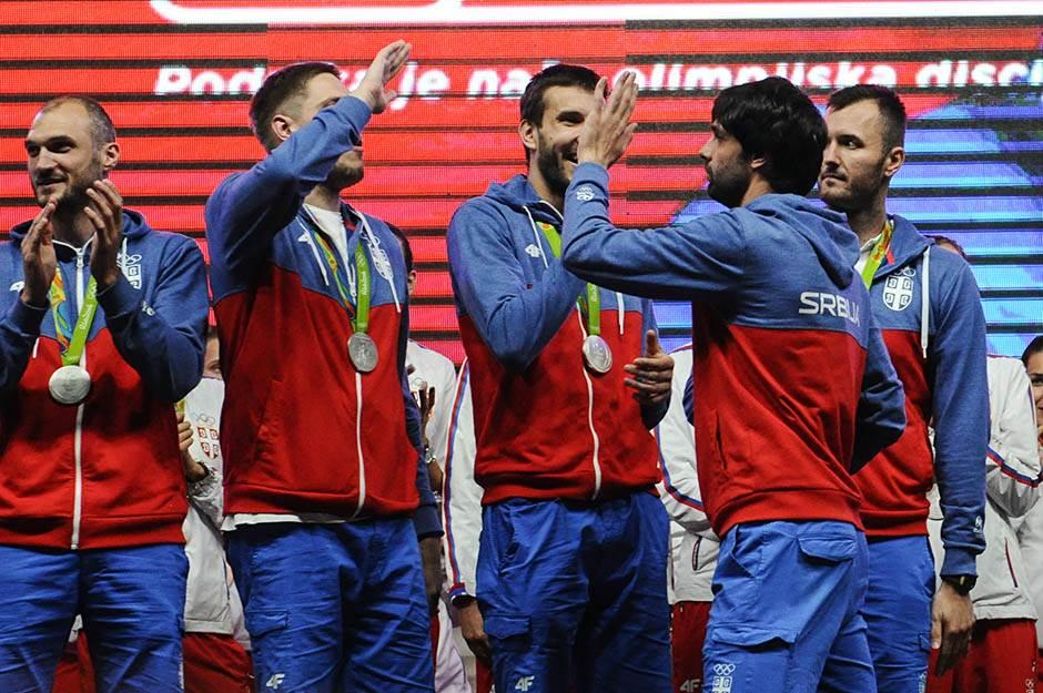 košarkaši, teodosić, štimac, mačvan, doček olimpijaca skupština, olimpijske igre rio 2016, sportisti, srbija, doček sportista