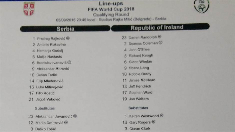 UŽIVO: Srbija - Irska