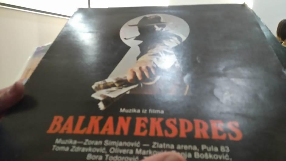 """Ploča sa muzikom iz filma """"Balkan ekspres"""""""