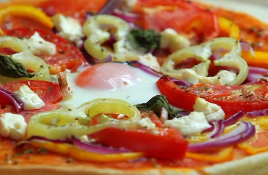 pica, hrana, jaje, paprika, paradajz