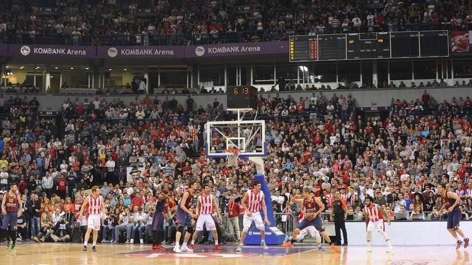 Detalj utakmice Zvezda - Barselona, odigrane u martu 2015.