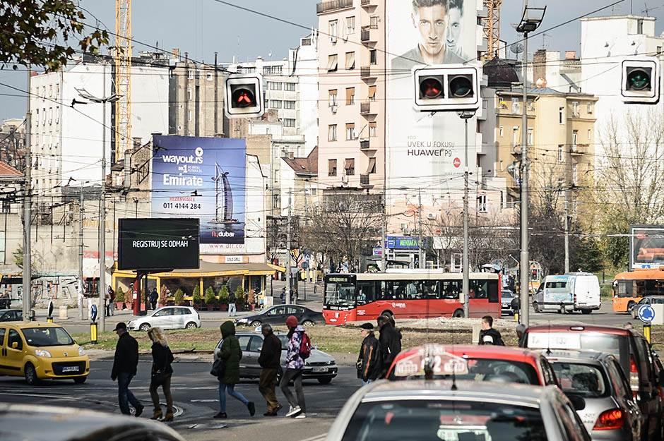 slavija, trg slavija, kružni tok, beograd, pešak, pešaci, semafor,  ulica, zgrada, zgrade, saobraćaj, ulice, grad,