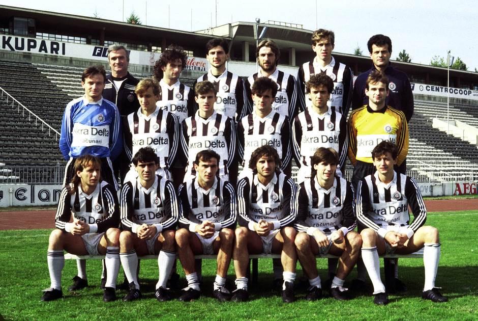 Tim Partizana iz 1986. godine