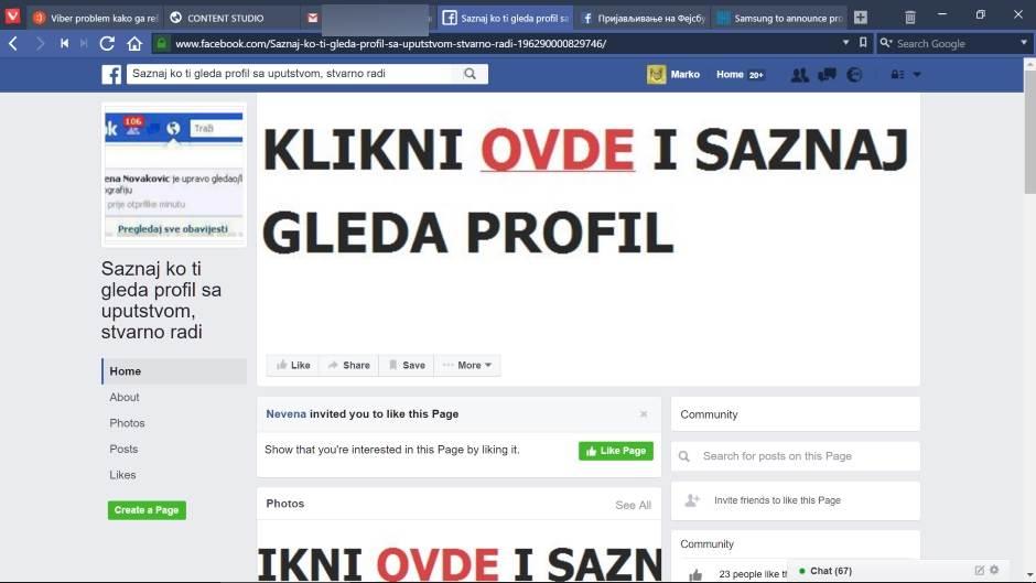Kako da saznate ko vam gleda Fejs profil? (FOTO)