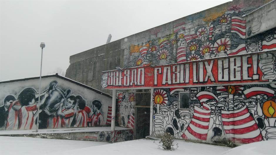 marakana, fkcz, crvena zvezda, sneg, stadion, delije