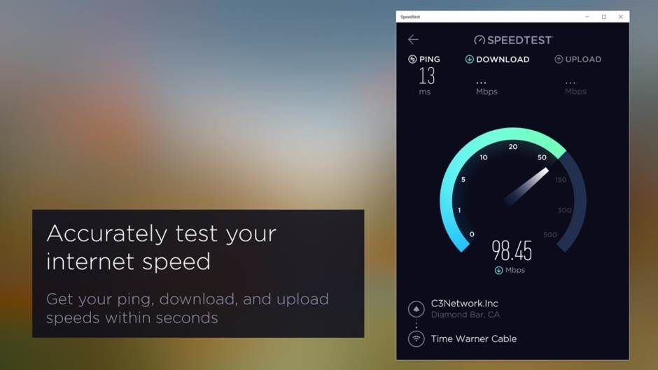 Speedtest.net, Aplikacije, Brzina interneta