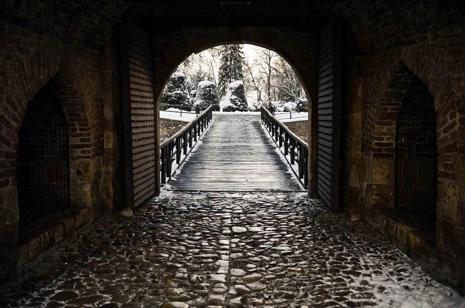 beograd, vrata, most, tvrđava, zima, sneg, vreme, grad, kalemegdan, padavine, mećava, hladno