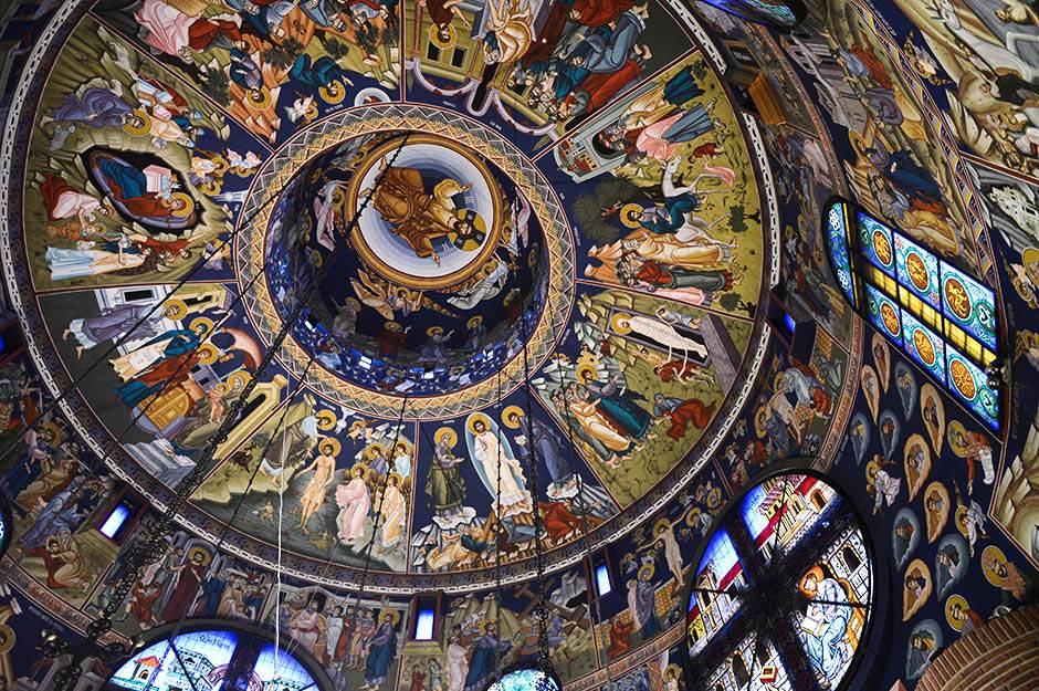 freska, freske, svetac, sveti, sveci, crkva, vera, hrišćanstvo,