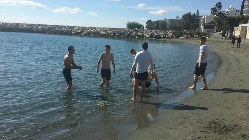 Partizan, kupanje na Kipru