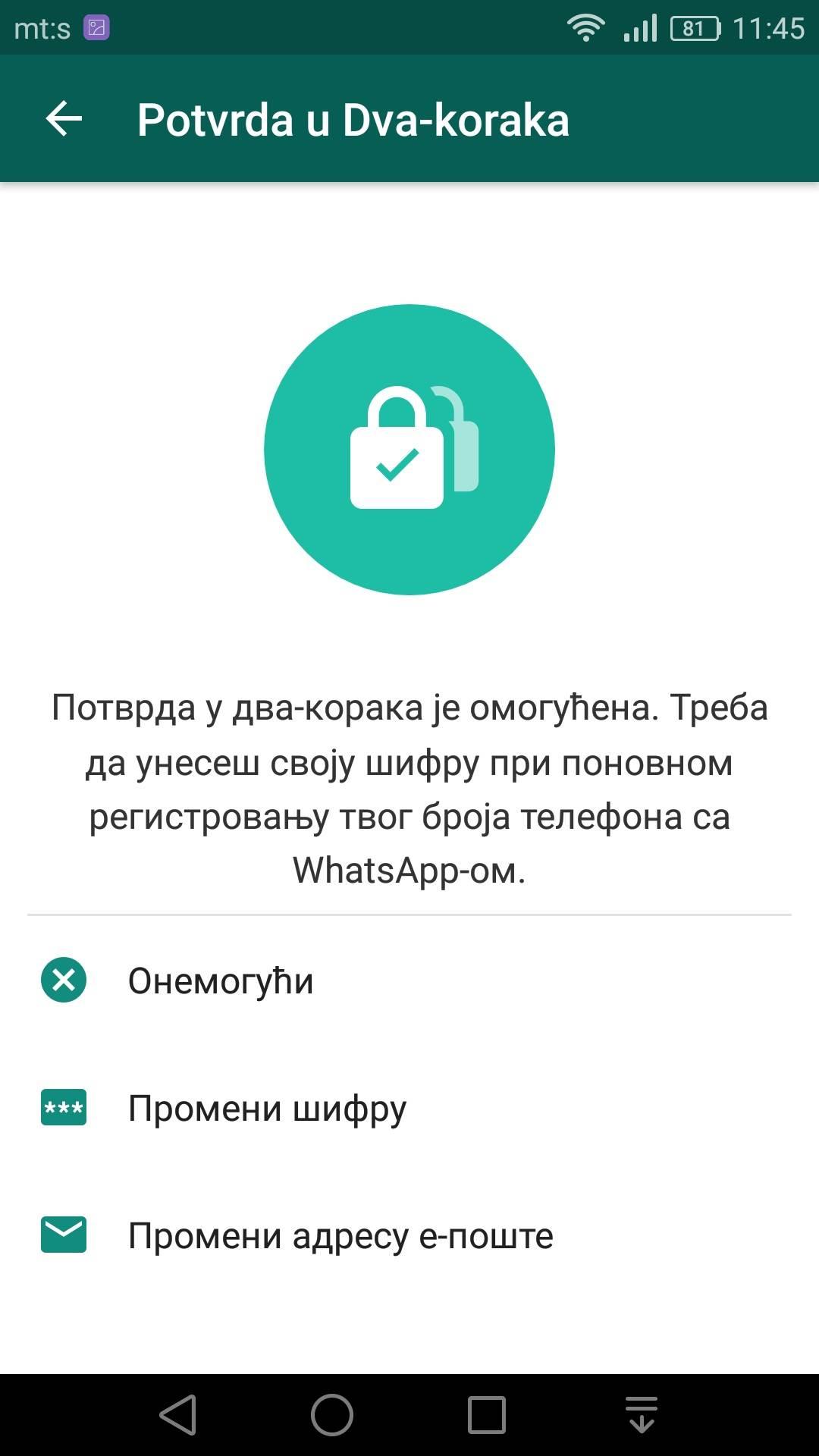 Aktivirajte novu WhatsApp opciju (FOTO uputstvo)