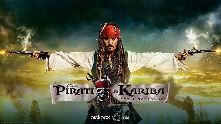 """Pirati sa Kariba"" - sva 4 nastavka na mts TV"