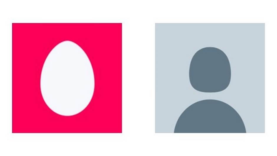 Twitter, profilna slika, avatar, jaje, silueta