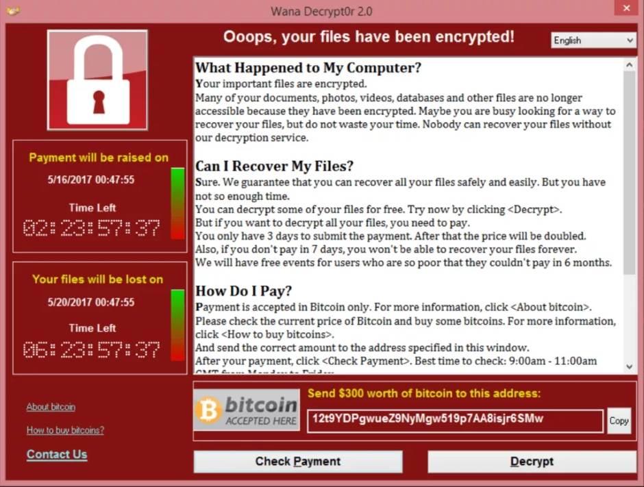 WCry, WannaCry, Wanna Decrypt, Ransomware