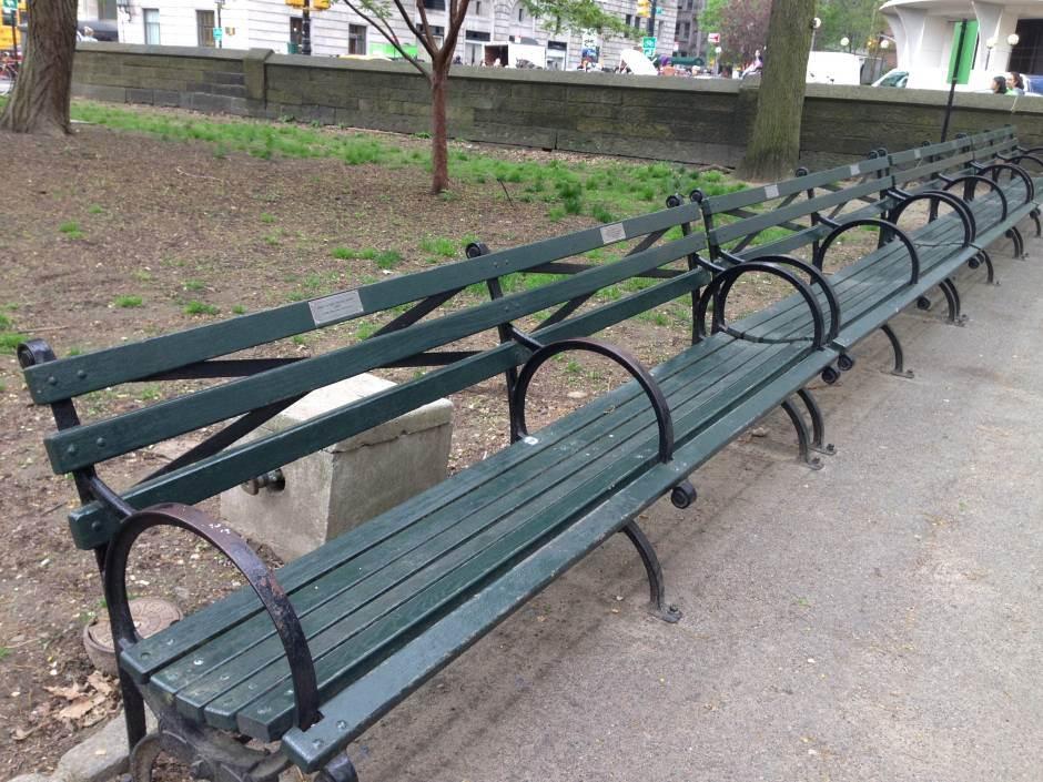 njujork, klupe, park