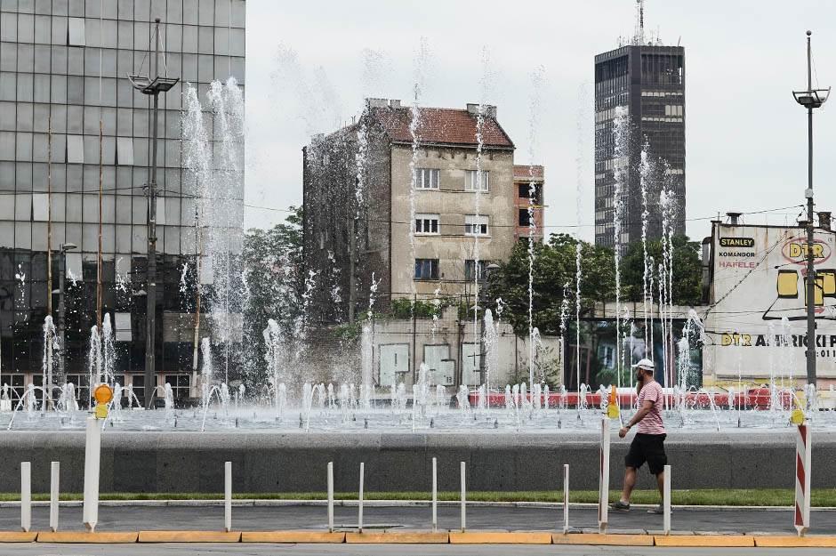 fontana slavija, slavija, muzička fontana, nova fontana