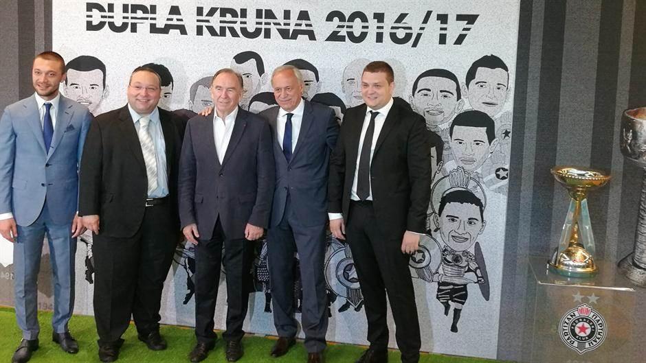 Iliev, Vuletić, Vučelić, Vazura FK Partizan