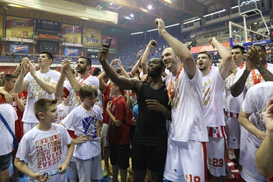 KK Crvena zvezda slavlje Dženkins Simonović Gudurić Lazić
