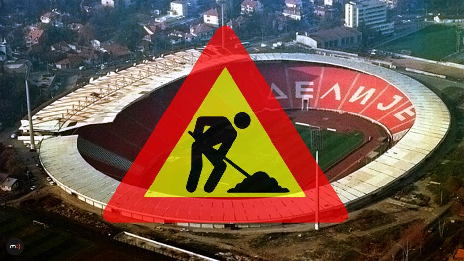 stadion FK Crvena zvezda Marakana Rajko Mitić radovi na putu