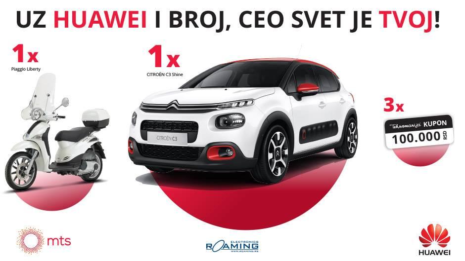 Osvojite auto Citroen C3 uz mts i Huawei
