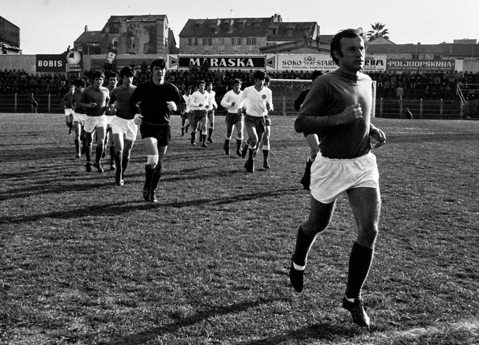 Utakmica Hajduk Split - Reprezentacija Jugoslavije 1971. godine (0:3). Džajić, Vukčević, Blagoje paunović, Josip Bukal, Bjeković...