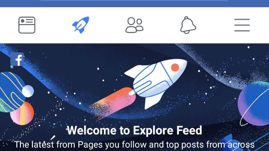 Facebook Explore Feed Facebook raketa