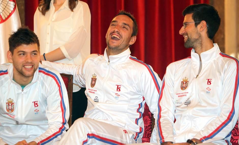 Filip Krajinović, Viktor Troicki i Novak Đoković