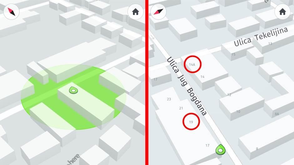 GPS mape Srbije Here WeGo kućni brojevi Srbija