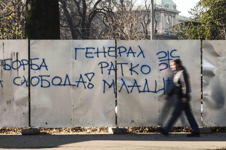 Grafiti podrške Ratku Mladiću osvanuli u Beogradu!