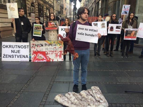 krzno, životinje, protest za srbiju bez krzna