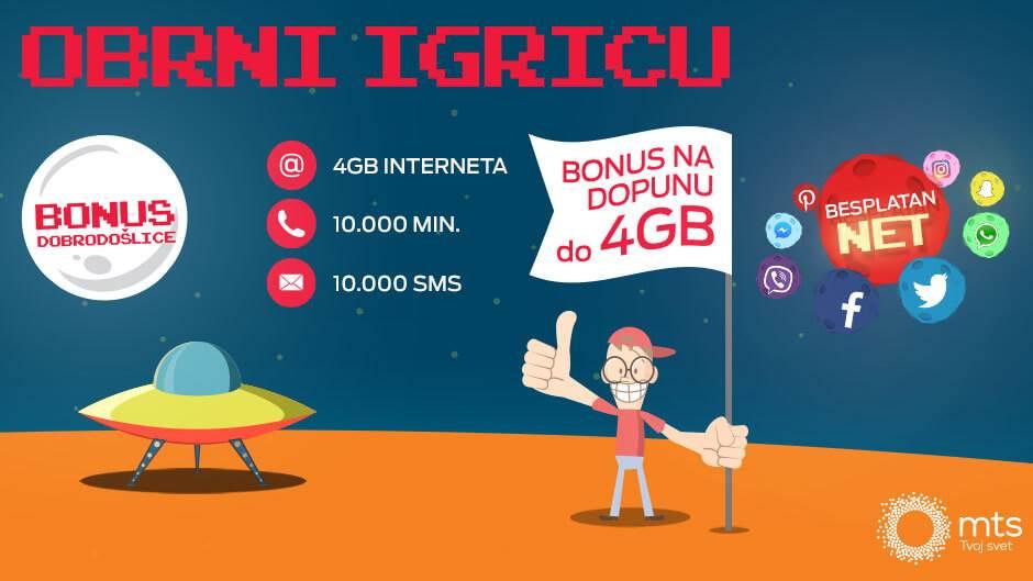 Do 4x više besplatnog interneta!