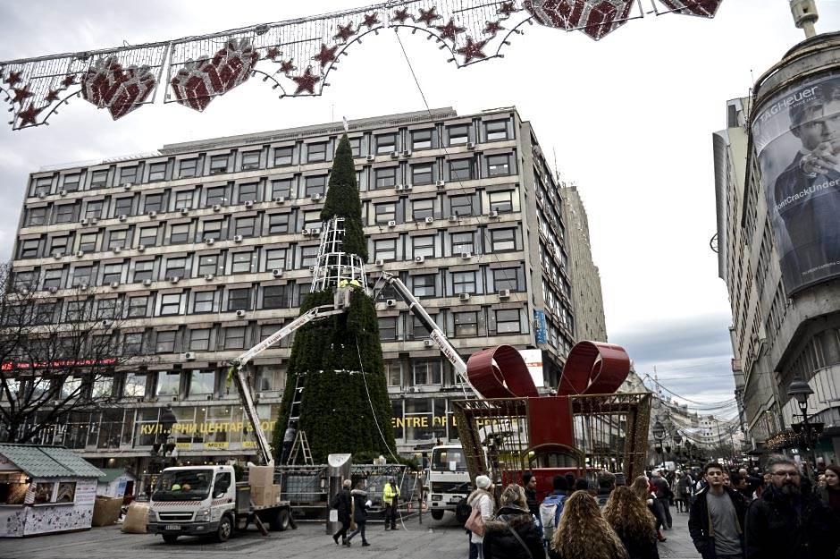 jelka, trg republike, novogodišnja jelka, knez mihailova