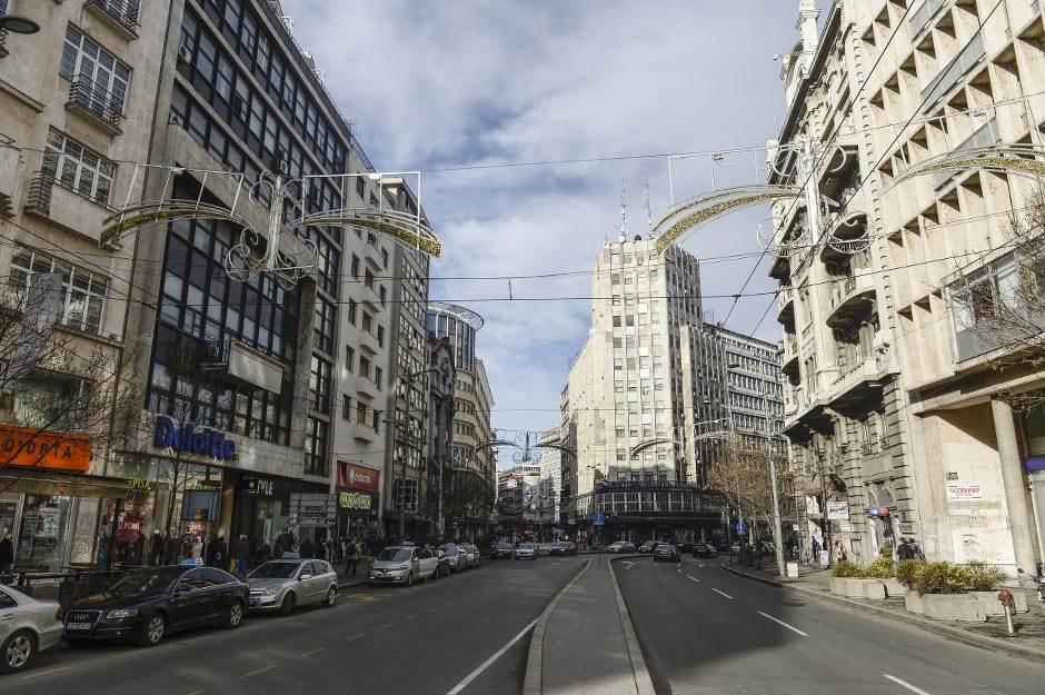 puste ulice, ulica, saobraćaj, palata albanija, terazije
