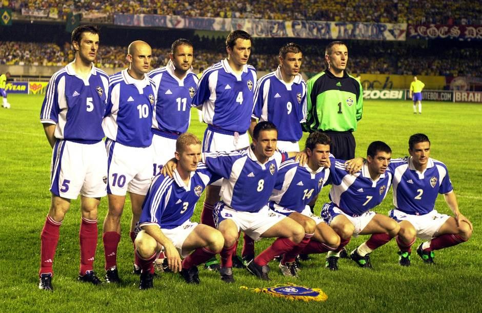Tim Jugoslavije (2001. godine, prijateljska protiv Brazila)