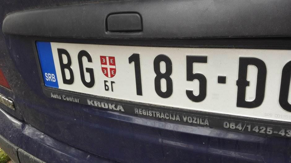 tablica, srbija, beograd, auto