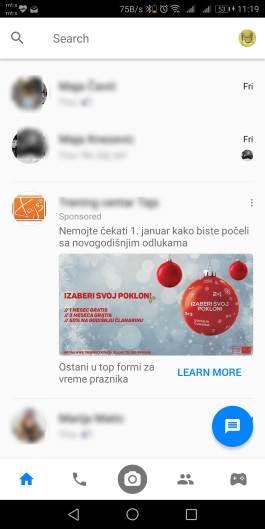 Video reklame i u ličnim porukama!