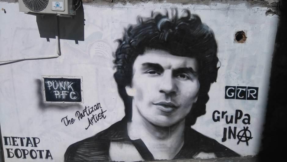 Petar Borota, mural, murali, grafiti